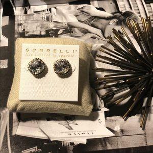 Sorrelli Clear Crystal Essentials Stud Earrings